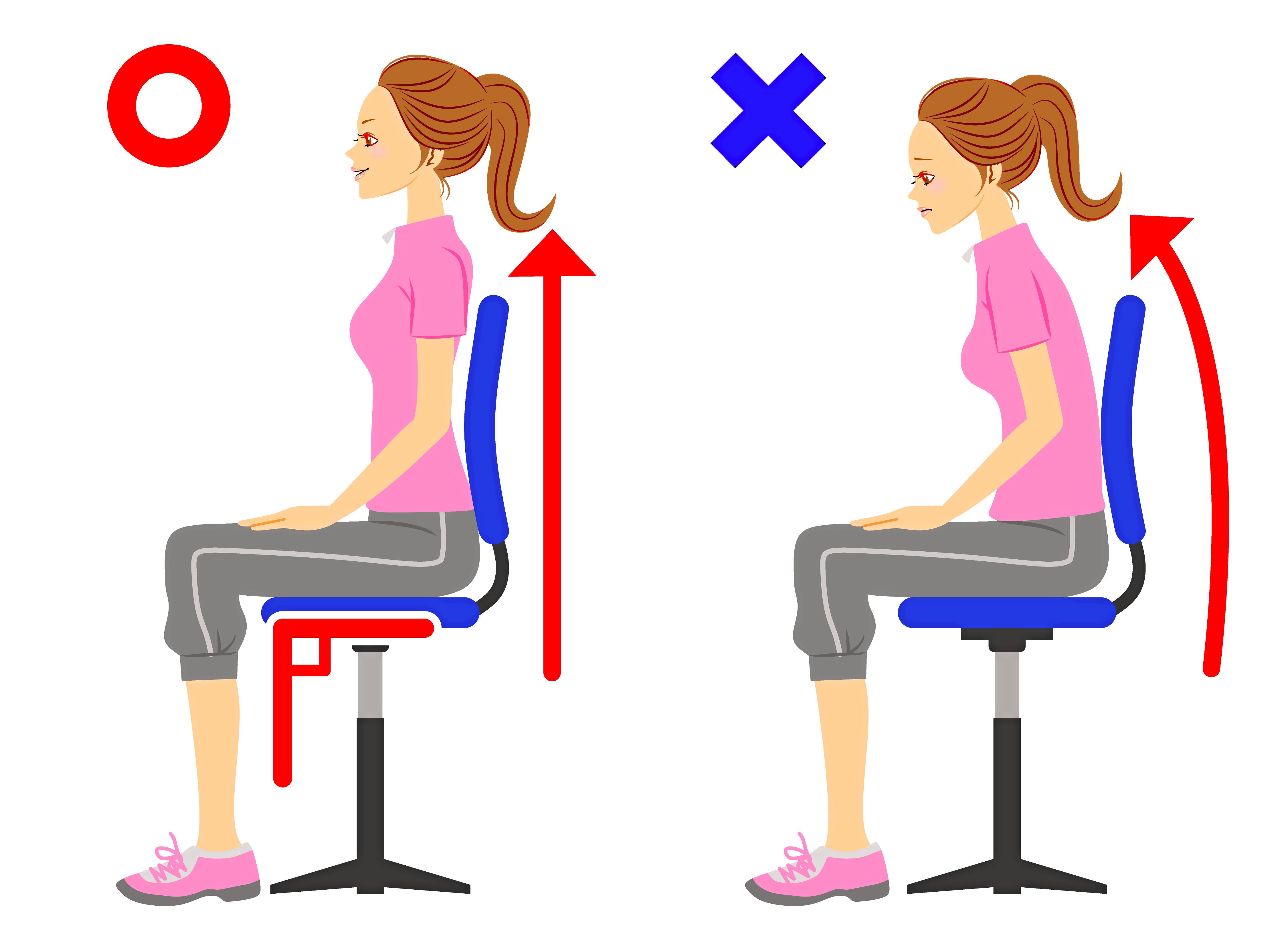 【イラストで紹介】正しい座り方